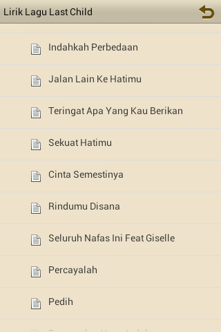 Download Lirik Lagu Last Child free for your Android phone