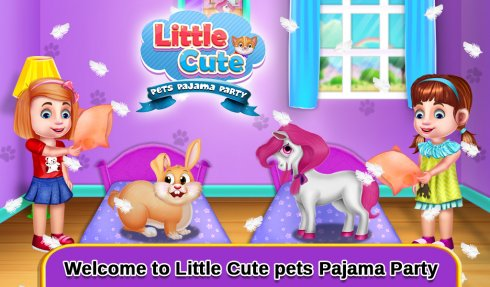 Little Cute Pets Pajama Party screenshot 1