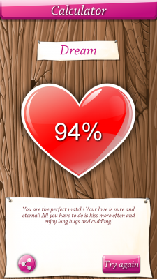 Love test app for android