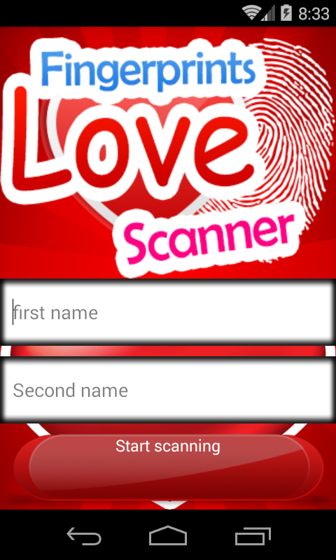 Love Fingerprint Scanner Prank screenshot 2