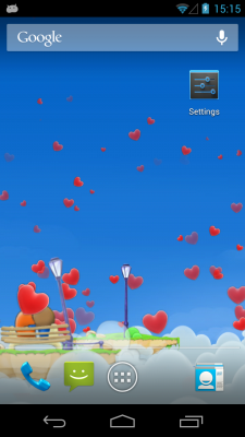 Love Hearts 3D Live Wallpaper free app download - Android Freeware