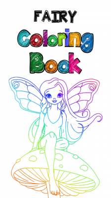 Lovely Fairy Coloring Book screenshot 1
