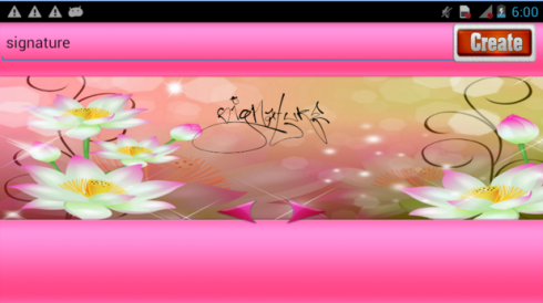 Lovely Signature Maker  screenshot 1