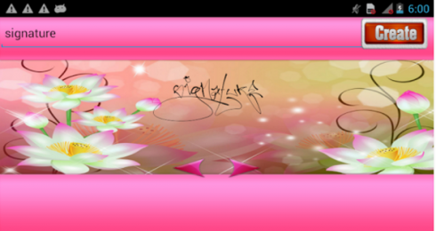 Lovely Signature Maker  screenshot 2