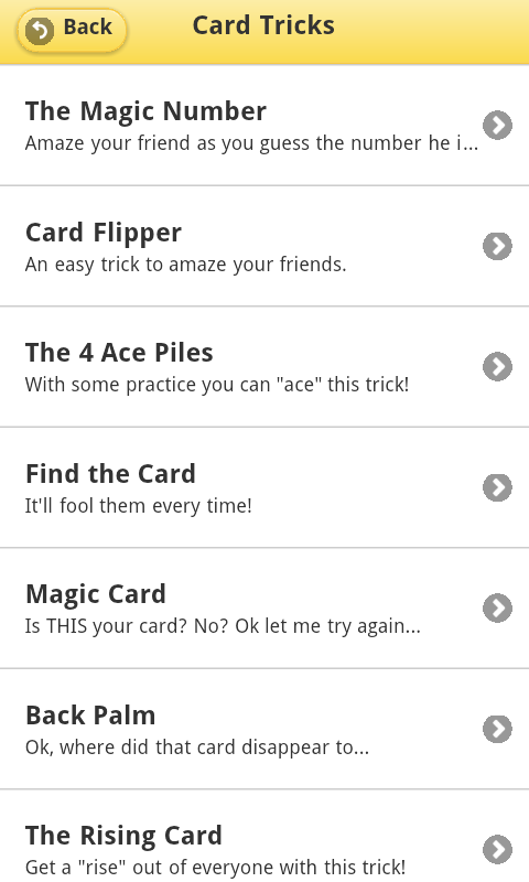 Magic Tricks Free Android App Android Freeware