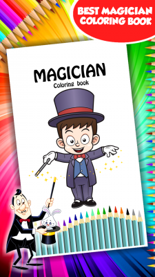 Magician Coloring Book screenshot 1