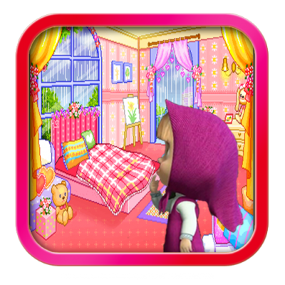 Image of Masha and bear Room decoration game