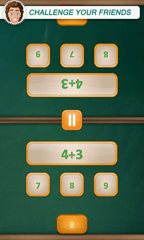 math duel 2 player games math game android app apk by good sound app. Black Bedroom Furniture Sets. Home Design Ideas