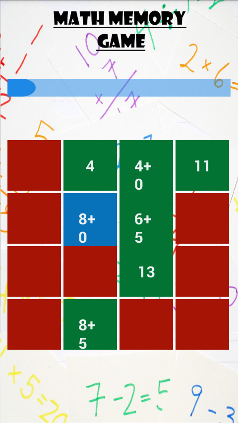 Math Memory game  screenshot 2