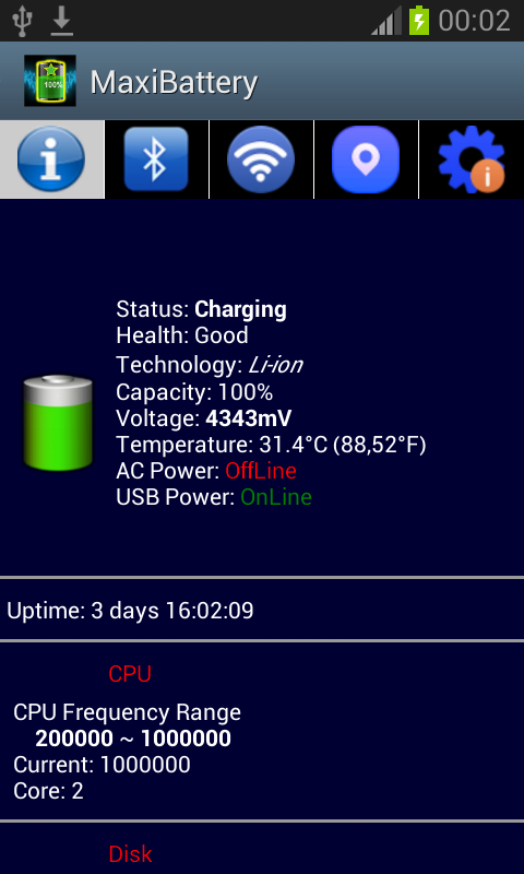MaxiBattery battery protector screenshot 2