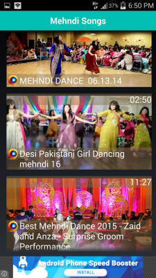 Mehndi Songs Video for Wedding screenshot 1