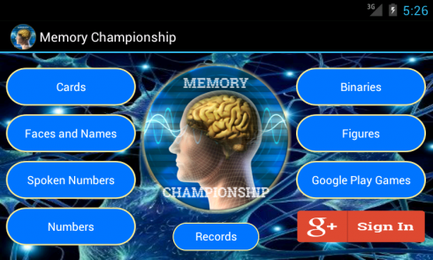 Memory Championship screenshot 1