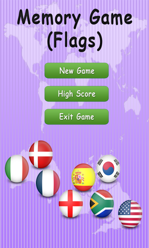 Memory Game - Flags screenshot 1