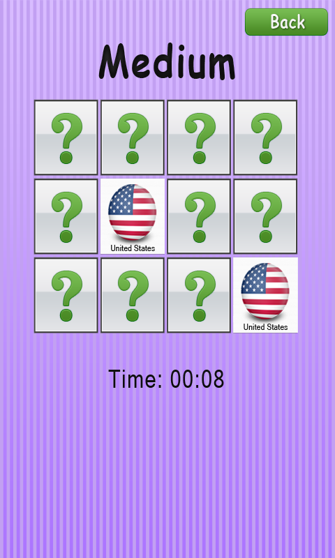 Memory Game - Flags screenshot 2