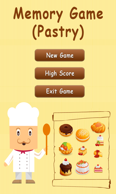 Memory Game - Pastry screenshot 1