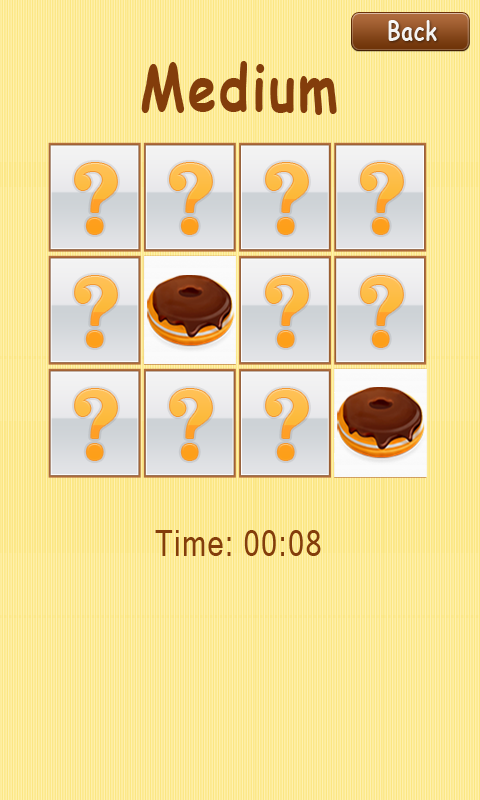 Memory Game - Pastry screenshot 2