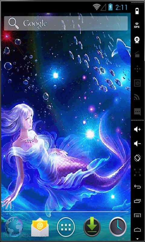 Download Mermaid In Water Live Wallpaper