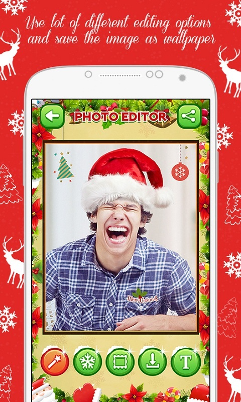 Merry Christmas Photo Editor free app download - Android Freeware