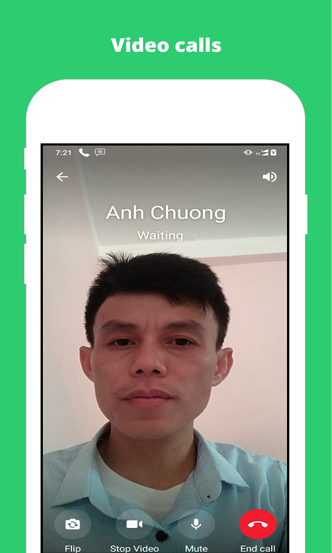 Chat messaging and video call app screenshot 2