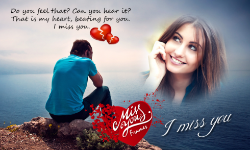 download miss you photo frames