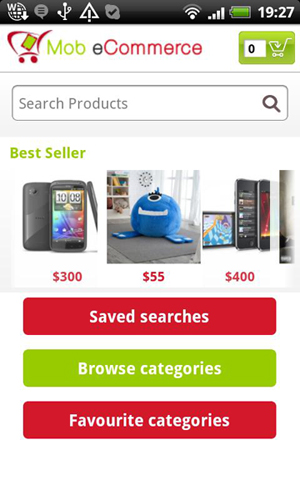 Mobile eCommerce screenshot 1