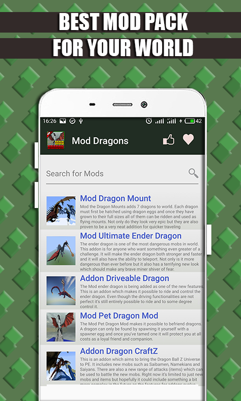 Mods and Addons Dragon for MCPE screenshot 2