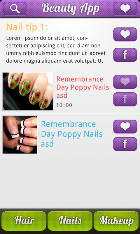 Nail Art and Hairstyle Catalog free app Android