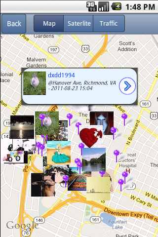 NearbyFeed - Location based Social Networking and Microblogging screenshot 1