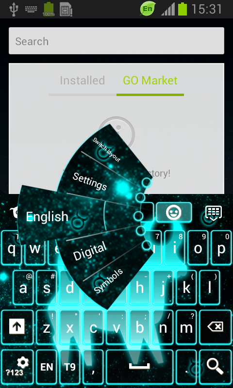 Neon Taurus Keyboard screenshot 1