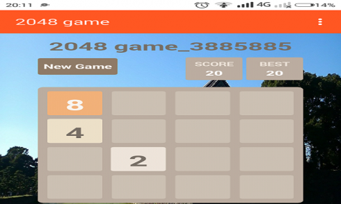 New 2048 game screenshot 1