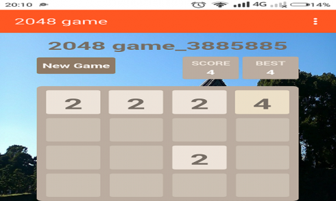 New 2048 game screenshot 2