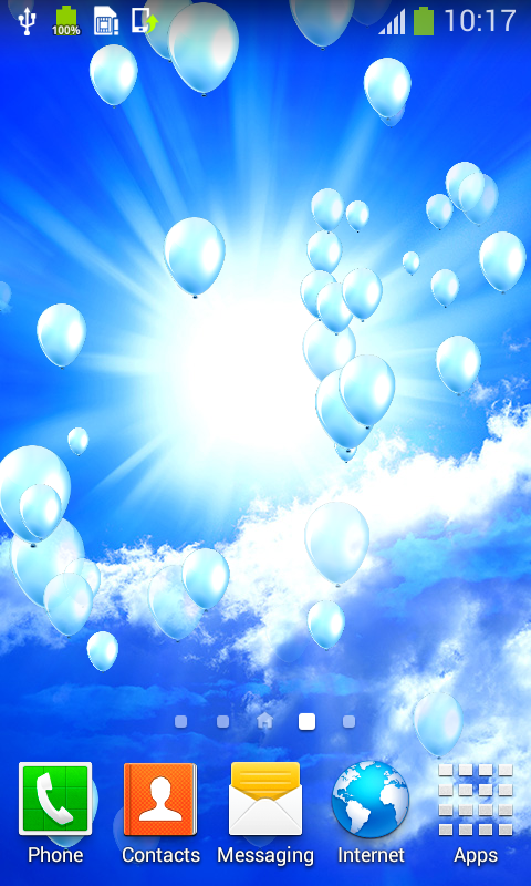new blue sky live wallpapers free apk android app