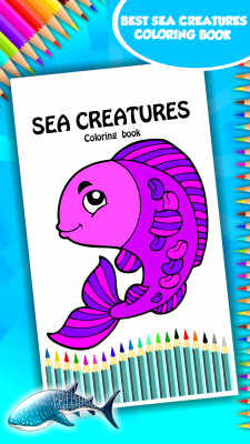 New Sea Creatures Coloring Book screenshot 1
