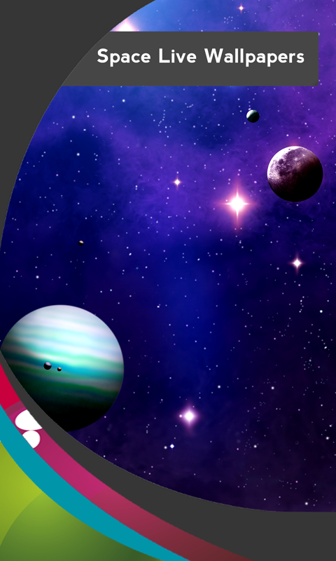 new space live wallpapers free app download android freeware