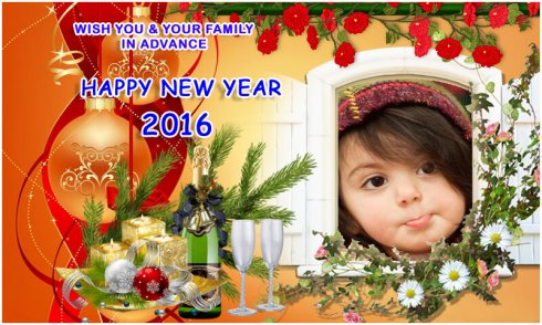New Year Photo Frames 2016 screenshot 1