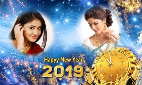 New Year Photo Frames Dual 2019 screenshot 1