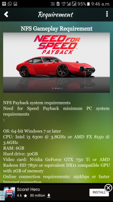 NFS Payback Cars for Android - Download
