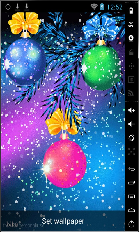 nice christmas balls live wallpaper free download for android