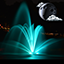 Download Night Fountain Clock Widget for Android phone