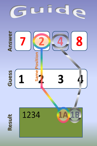 Number Guess 1A2B - Two Players screenshot 1