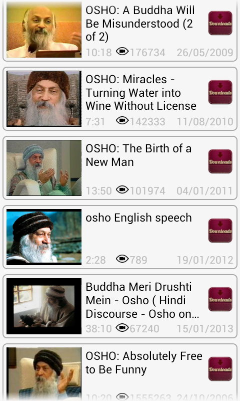 Osho Video Speech Android Download