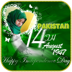 Pakistan Independence flag photo frames for Android - Download