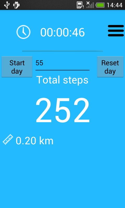 Pedometer and step counter screenshot 1