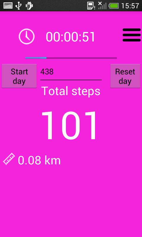Pedometer and step counter screenshot 2