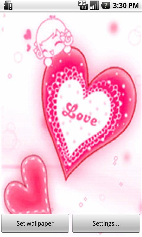 love heart wallpaper for android