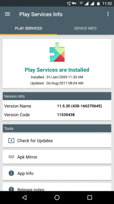 Play Services Info , Device Info screenshot 1