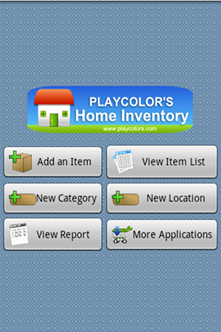 Playcolors Home Inventory screenshot 1