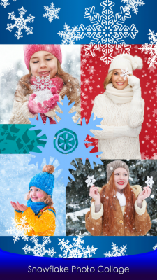 Popular Snowflake Photo Collage screenshot 1