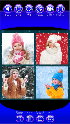 Popular Snowflake Photo Collage screenshot 2