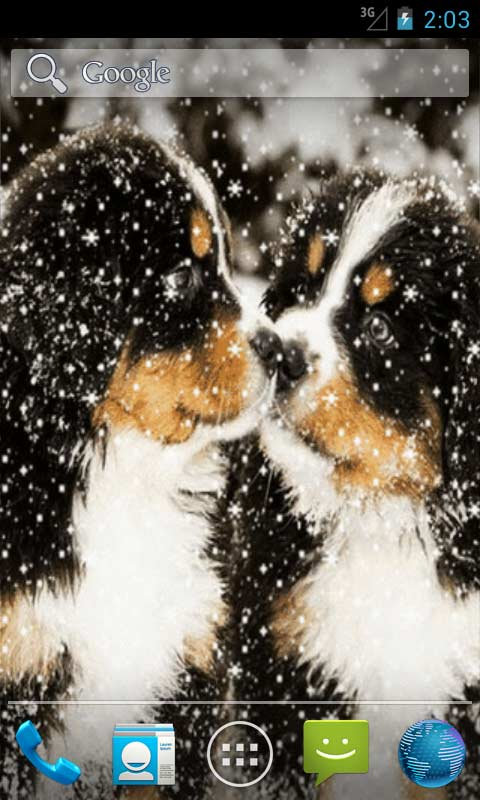 puppies in snow live wallpapers free app download android freeware
